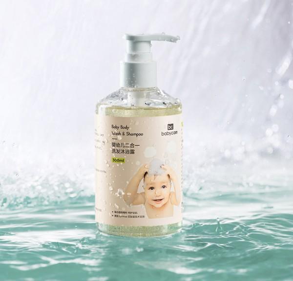 babycare宝宝洗发沐浴二合一   一冲即净轻松洁净无残留