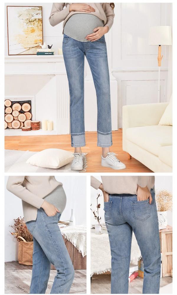 孕妇可以穿牛仔裤吗      JOYNCLEON婧麒孕妇牛仔裤高腰托腹·轻松穿过整个孕期