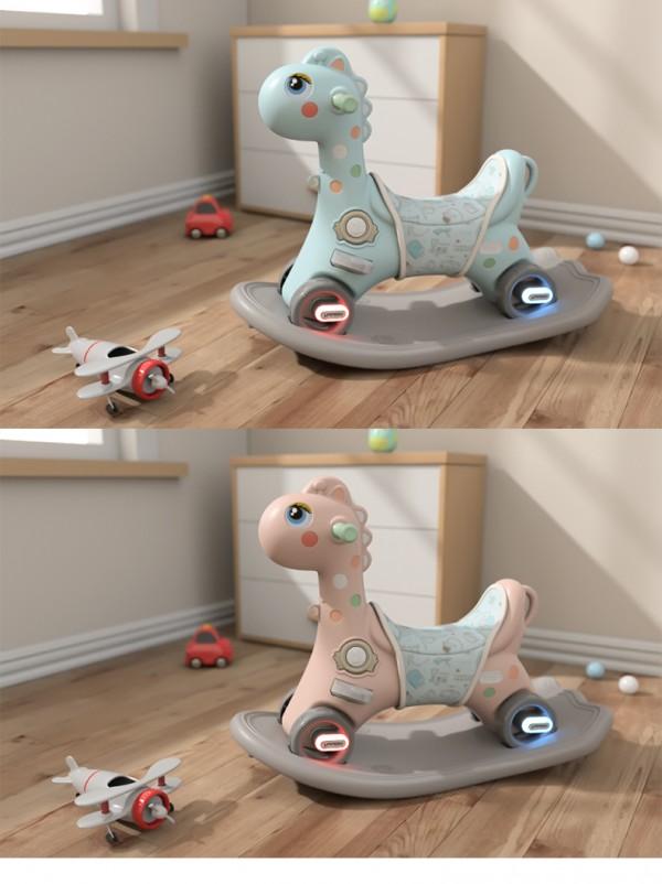 诺莎儿童音乐两用摇摇木马   稳固重心·让宝宝更愉快的玩耍