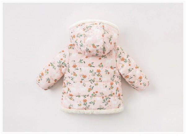 davebella戴维贝拉女童冬季棉衣 洋气碎花·时尚新颖 让宝宝尽显软萌可爱