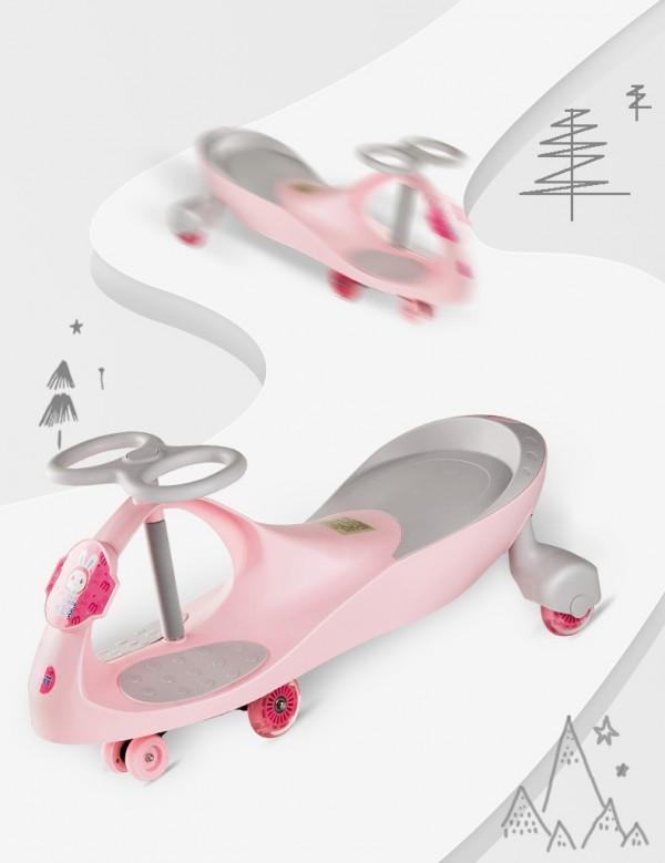 米宝兔儿童多功能防侧翻扭扭车   360°流畅操作·锻炼宝宝运动天赋