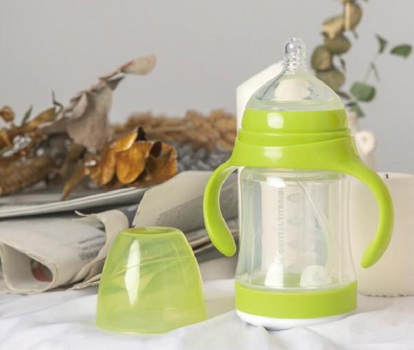 一生一家抗菌自洁玻璃奶瓶  为宝宝量身打造放心奶瓶