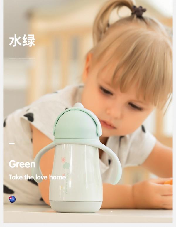 小袋鼠巴布儿童吸管保温杯    360°防漏·让宝宝喝水更轻松