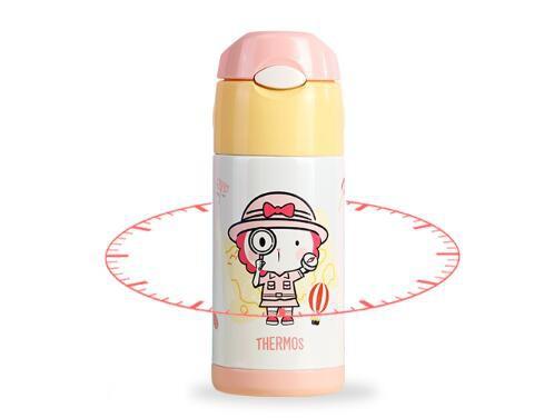 膳魔师儿童吸管学饮保温杯    双效保温·让宝宝经常喝到温水