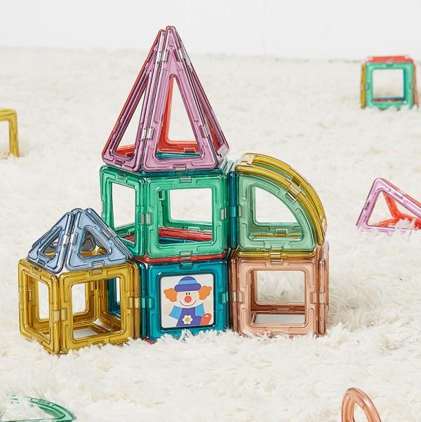 可优比磁力片益智积木玩具   循序渐进的阶段启蒙·逐步培养宝宝的全方位认知