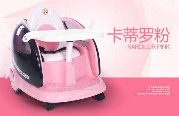 福儿宝遥控儿童电动车  宝宝餐椅、摇椅、手推车功能多多