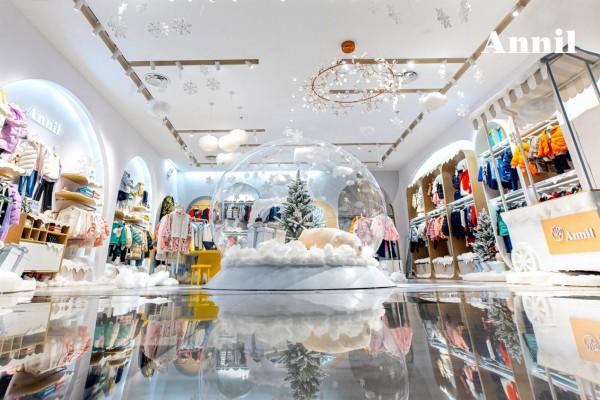 """小雪时节,安奈儿童装贩卖一场雪 打造""""冬日里的童话世界"""""""