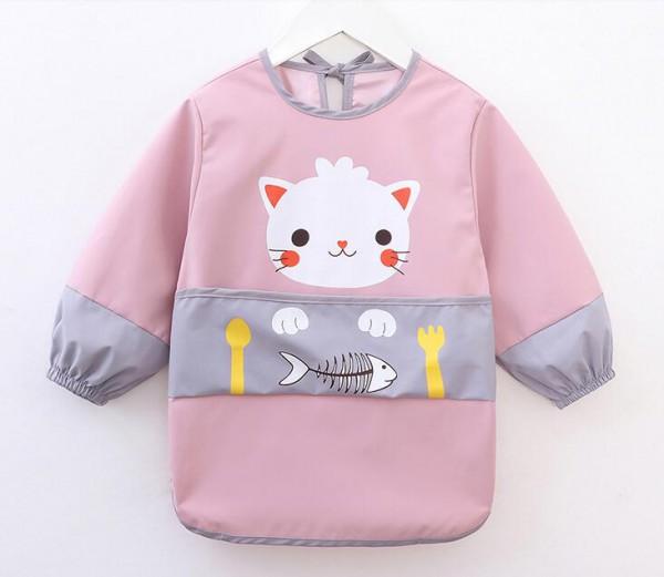 宝宝防水罩衣·儿童饭衣饭兜长袖   小嘟龙秋冬季饭衣