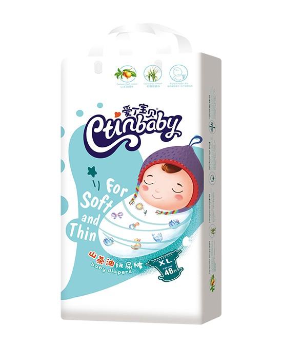 爱丁宝贝山茶油纸尿裤   长效保持干爽·让宝宝舒爽每一天