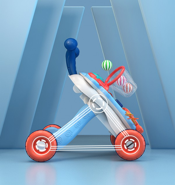 知识花园多功能学步手推车玩具   引导宝宝双腿发力·轻松走出漂亮腿型