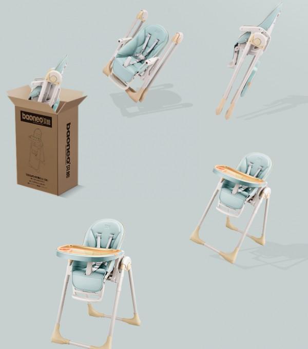 贝能宝宝多功能可折叠便携式餐椅    培养宝宝独立用餐的好习惯