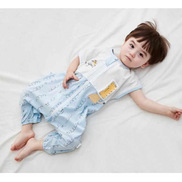 宝宝晚上睡觉不老实怎么办    威尔贝鲁婴儿纯棉分腿睡袋360°翻身不着凉