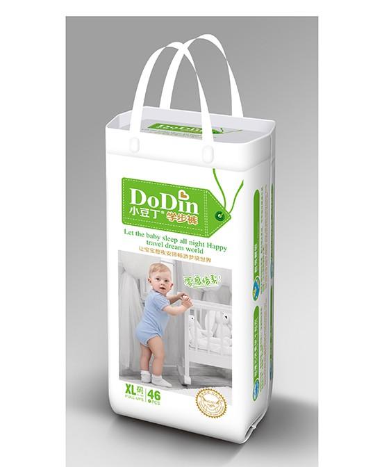小豆丁零感倍柔学行裤  独特尿显提醒  让宝宝肌肤持久干爽
