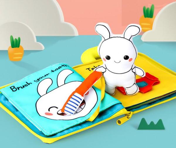 贝恩施宝宝3D立体布书  早教益智撕不烂的布书  满足0-3岁宝宝玩耍