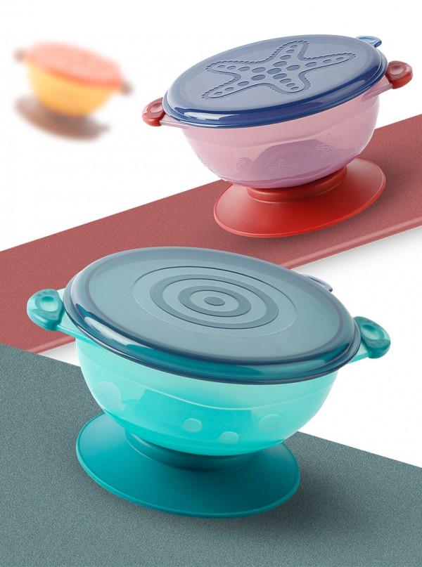 贝恩施婴儿碗辅食训练饭碗    强力吸附桌面不打翻易清洗