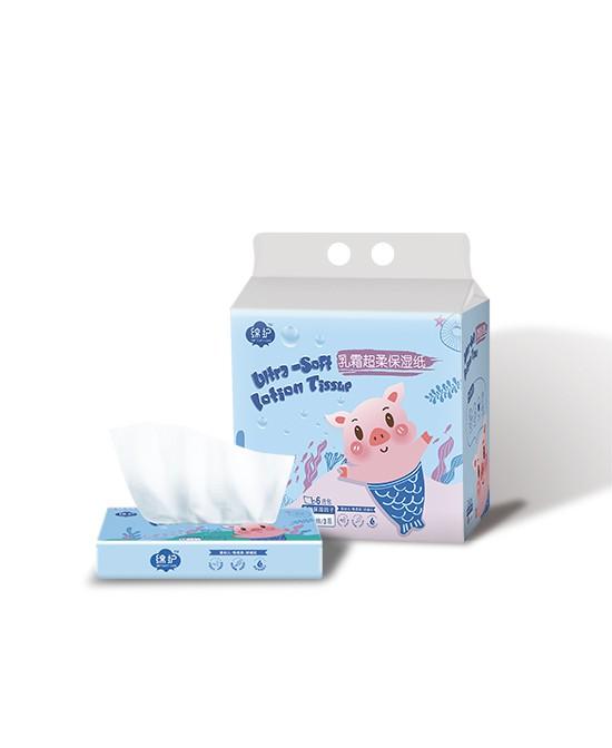 绵护乳霜超柔保湿纸 舒适亲肤 柔软清洁呵护宝宝幼嫩敏感肌