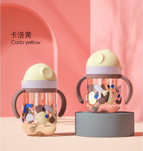 淘气宝贝ppsu奶瓶大宝宝吸管杯    帮助宝宝从奶瓶轻松过度到水杯爱上喝水