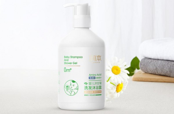 润本婴儿洋甘菊洗发沐浴露 洋甘菊精华 温和舒缓 清洁滋养宝宝幼嫩肌肤