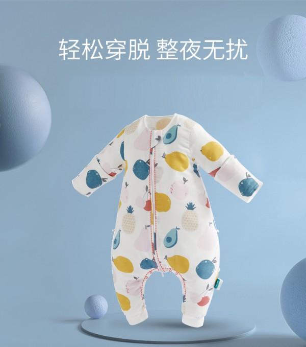 宝宝睡觉总是爱踢被子怎么办    可优比婴儿纯棉纱布睡袋防踢被双层棉纱轻薄透气·夏日清凉不着凉