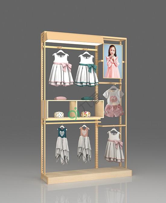 童装布局陈列选什么道具好?九爱道具 帮你打造一个全新的童装店