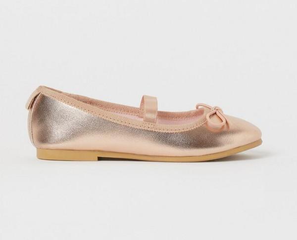 女童学舞蹈选择什么鞋好   HM圆头软底芭蕾浅口鞋