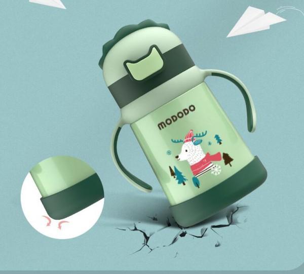 萌嘟嘟保溫杯再上新品   奶瓶款保溫杯滿足寶寶喝水需要
