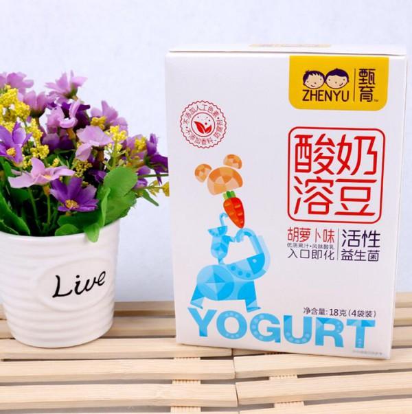 宝宝多大可以吃酸奶溶豆 甄育酸奶溶豆不添加香精,营养多元化