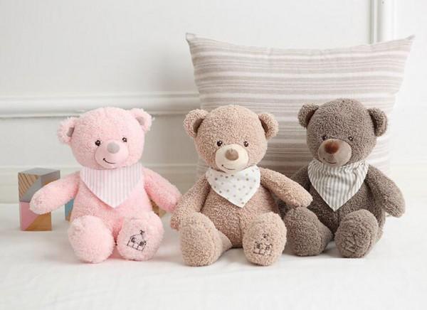 麦侬贝儿婴儿睡觉安抚毛绒玩具   安抚玩具围巾熊不掉毛·更亲肤