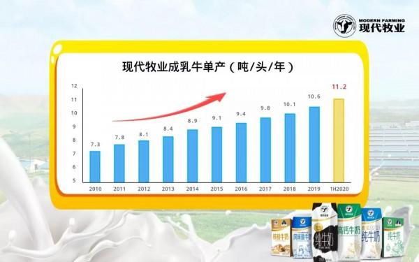 现代牧业发布中期业绩,溢利同比大增近500%!