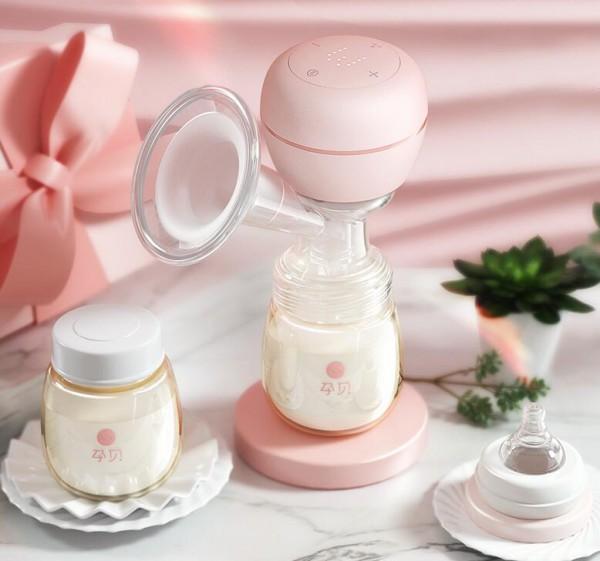 孕贝一体式电动吸奶器 大吸力 无痛吸乳出奶量大  宝妈哺乳的好帮手