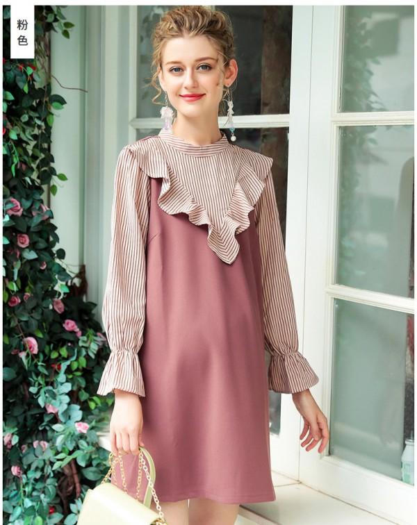 孕妇秋天的穿搭分享   十月名裳孕妇秋装连衣裙青春洋气不显怀