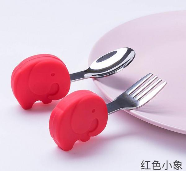 餐勺选的好  宝宝吃饭会更香  firaloo菲拉洛宝宝吃饭训练勺耐高温1无异味