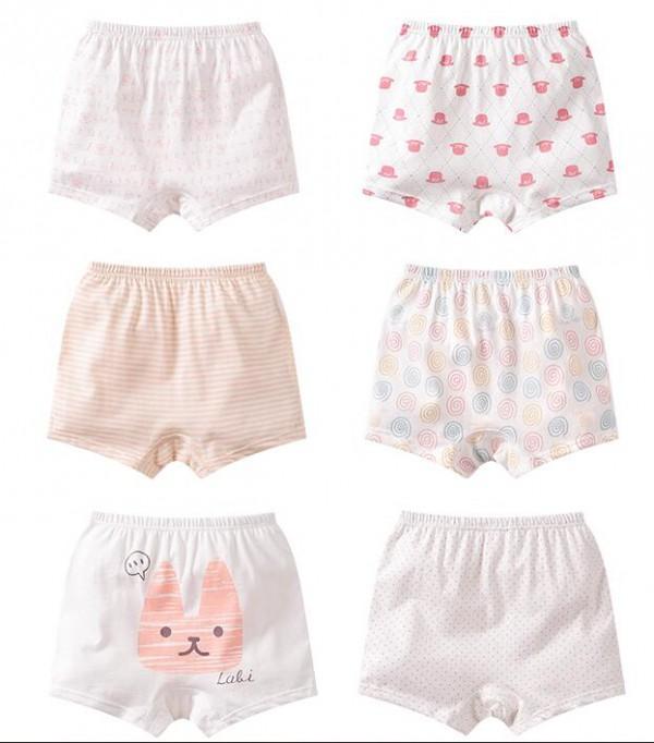 拉比女童平角小内裤  纯棉材质给宝宝更好的呵护