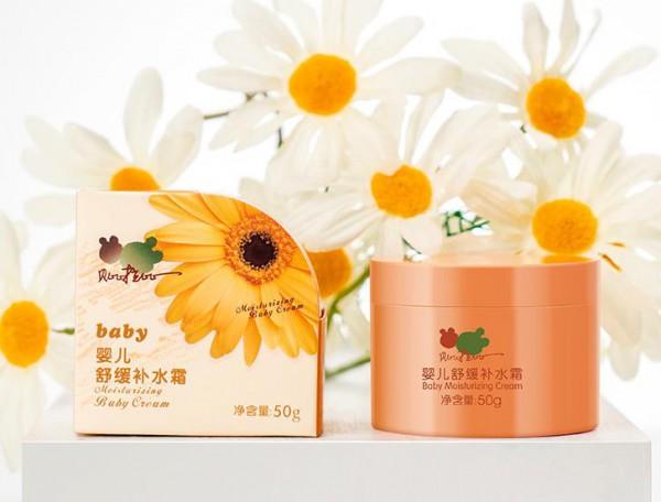 贝比拉比舒缓补水霜 自然活萃配方·鲜活润养 只为给宝宝稚嫩肌肤一份温润的自然触动