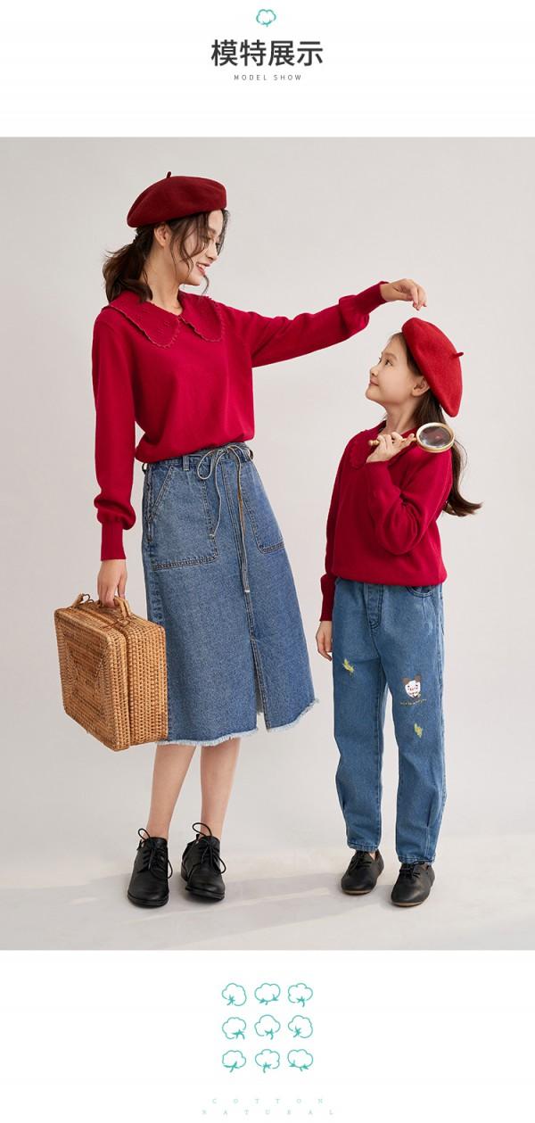 2020早秋親子裝怎么穿比較好看   茵曼女童親子裝  給孩子不一樣的童年