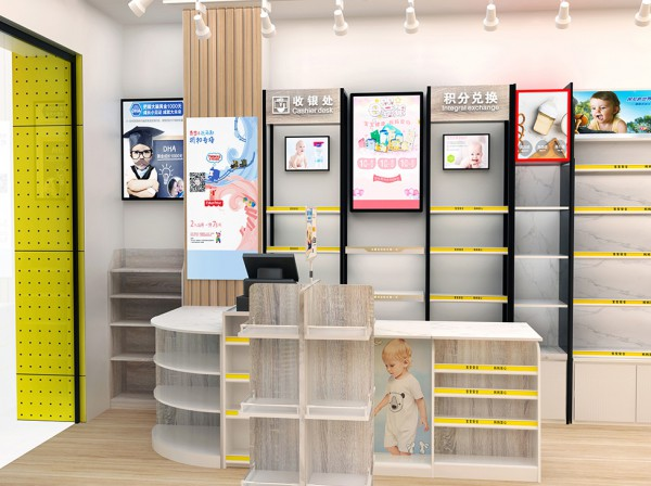 奶瓶背柜怎么利用  新手母婴店老板会设计吗   展正展柜整店装修设计心动吗