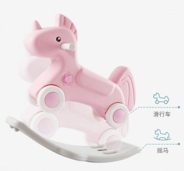 澳贝儿童摇马玩具  滑行车+摇马趣玩二合一  给宝宝不一样的体验