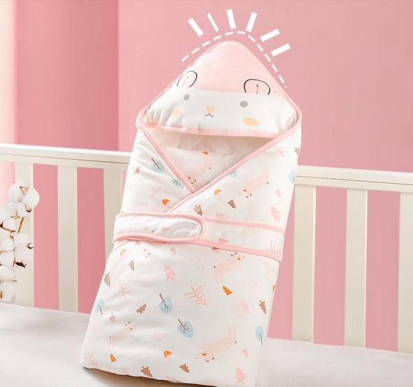 gb好孩子婴儿秋冬加厚抱被   新生儿宝贝针织加棉包被