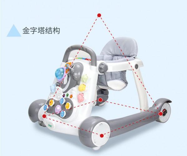bimo婴儿多功能学步车  益智二合一·学步车学习双模式