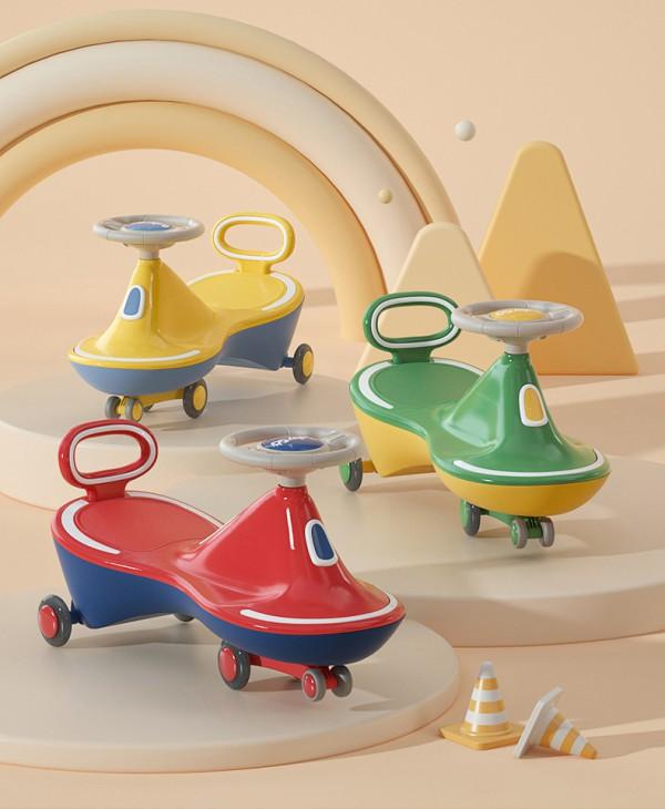 babygo儿童万向轮防侧翻扭扭车   舒适稳坐防后仰防滑落