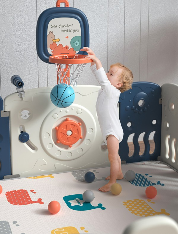 乐亲儿童游戏防爬行垫护栏    给足宝宝安全感·安心玩不哭闹