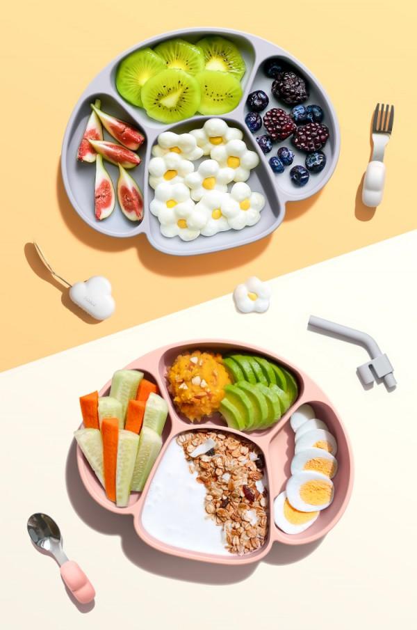 寶寶吸盤碗怎么固定  inbebe兒童分格吸盤蘑菇餐盤好用嗎