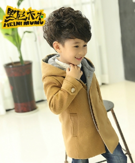 韩版潮儿童呢子呢大衣