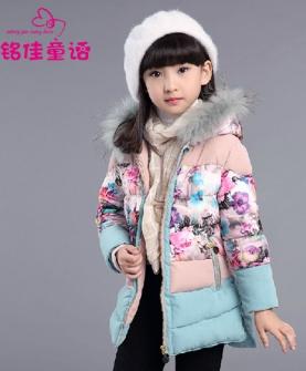女童装加厚棉衣