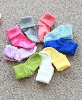 纯色多色堆堆袜