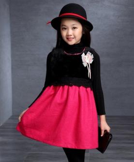 韩版毛呢背心公主裙