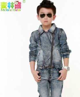 韩版儿童牛仔长袖