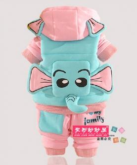 婴幼儿童大象卫衣三件套