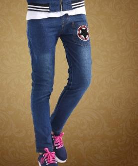 女大童牛仔裤