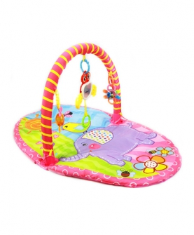 婴儿健身架带摇铃玩具